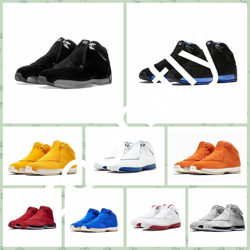 J018HA 2019 Hot sale 18 18s Mens outdoor Shoes Cool Grey Toro OG ASG Bred Royal Blue Sports Sneakers trainers outdoor designer shoes