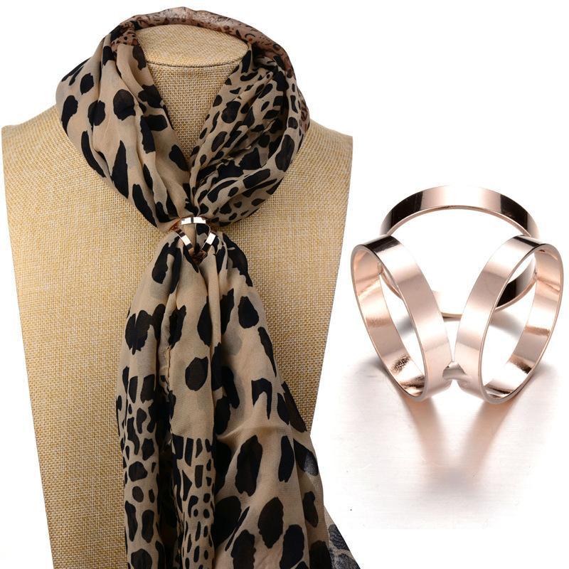 Moda 2 colori di figura rotonda Boemia Europa Scialle Fibbia Sciarpa di seta accessori anello scialle clip per i monili delle donne