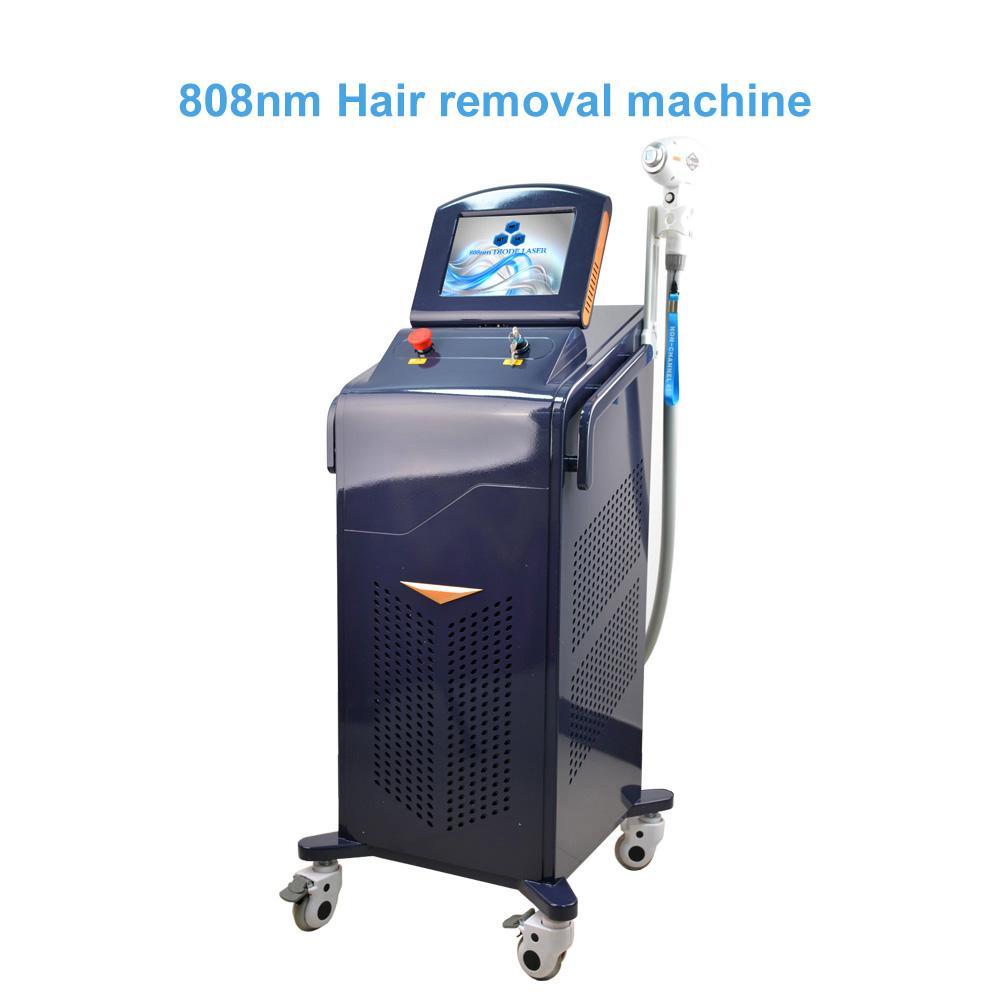 Máquina de remoción de pelo de diodo sin dolor 808NM Máquina de depilación Lightsheer Duet Epilator Láser Alemania Máquina Dilas