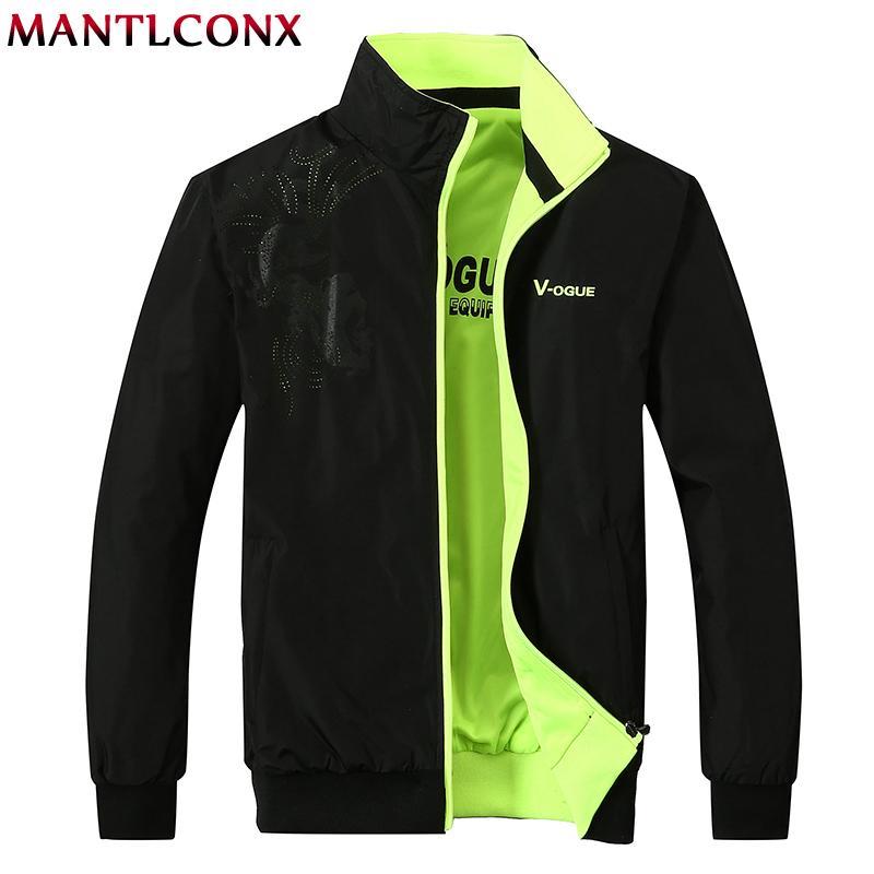 MANTLCONX 2020 Новые мужские куртки и пальто Мужской Причинная моды Большой размер Zipper Бомбардировщик куртки casacos Плюс размер Мужчина для 5XL T200502
