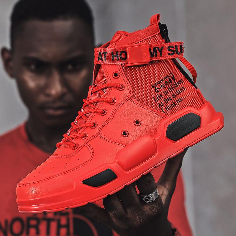 OLOME Nefes Erkekler Sneakers Sonbahar Yeni Erkekler Günlük Ayakkabılar Yüksek Kalite Trend Açık Kaymaz Moda Ayakkabılar Zapatos casuales