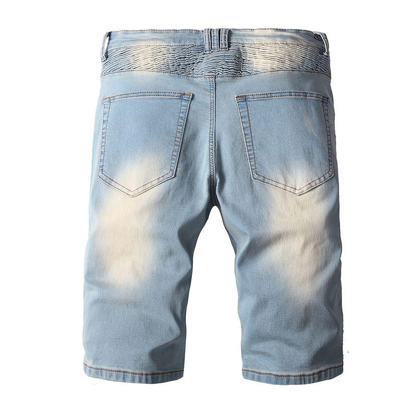 Multi Bolsillos Vintage Shorts Biker Lavado Hombres Pantalones de Motocicleta Denim Designer Street Itopy Jeans Alto para Male Airqt