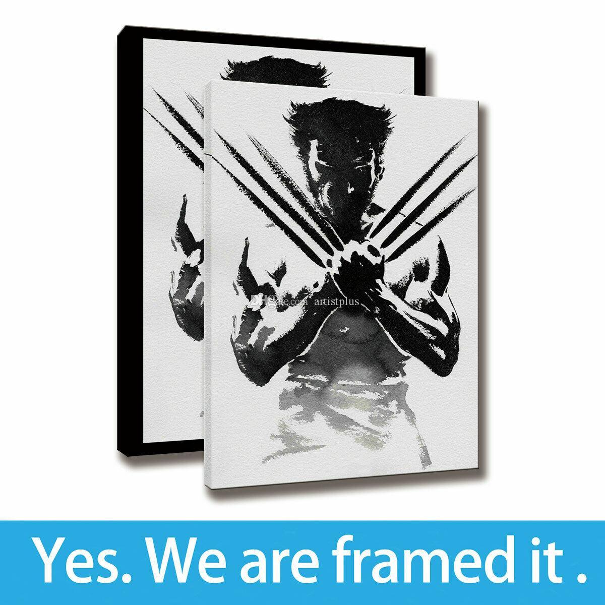 Pittura Il Wolverine HD Stampa Ufficio Decoro Movie Poster Wall Art Canvas artistica con cornice - pronta per essere appesa - Supporto di personalizzazione
