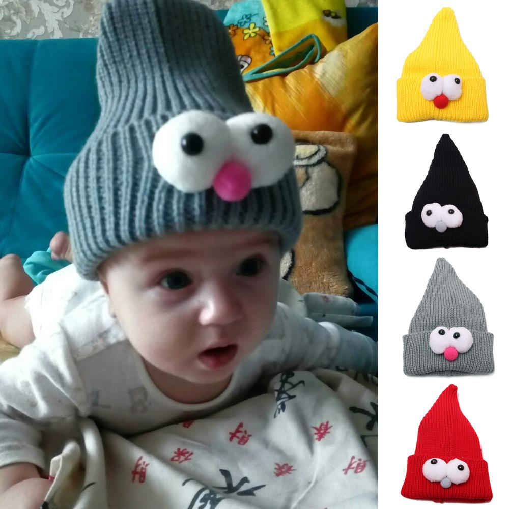 Toddler Kids Girl Boy Baby Infant Winter Warm Crochet Knit Hat Beanie Cap