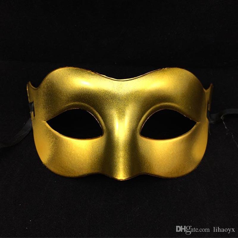 Yarım Yüz Maskesi Cadılar Bayramı Masquerade Maske Erkek, Venedik, İtalya Flathead Erkekler Yüz Maskeleri Cadılar Bayramı Partisi Maskeleri DC665