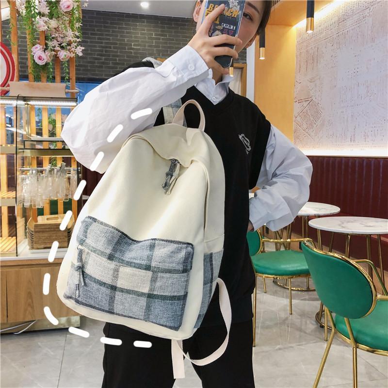 de las mujeres mochila, mochila, mujeres 2020 mochila nuevo estilo estudiante de la universidad del estilo, la moda de la tela escocesa de los hombres al aire libre de la mochila