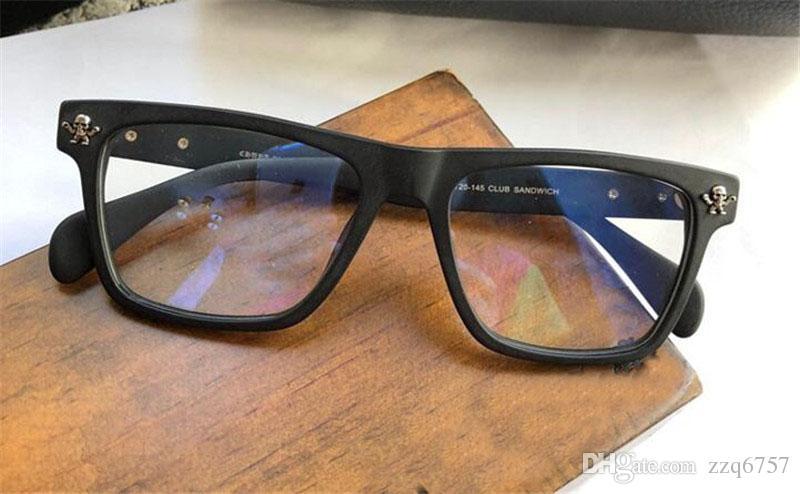 جديد مصمم النظارات خمر CRH SAND النظارات الطبية steampunk إطار صغير نمط الرجال العلامة التجارية عدسة ransparent واضحة