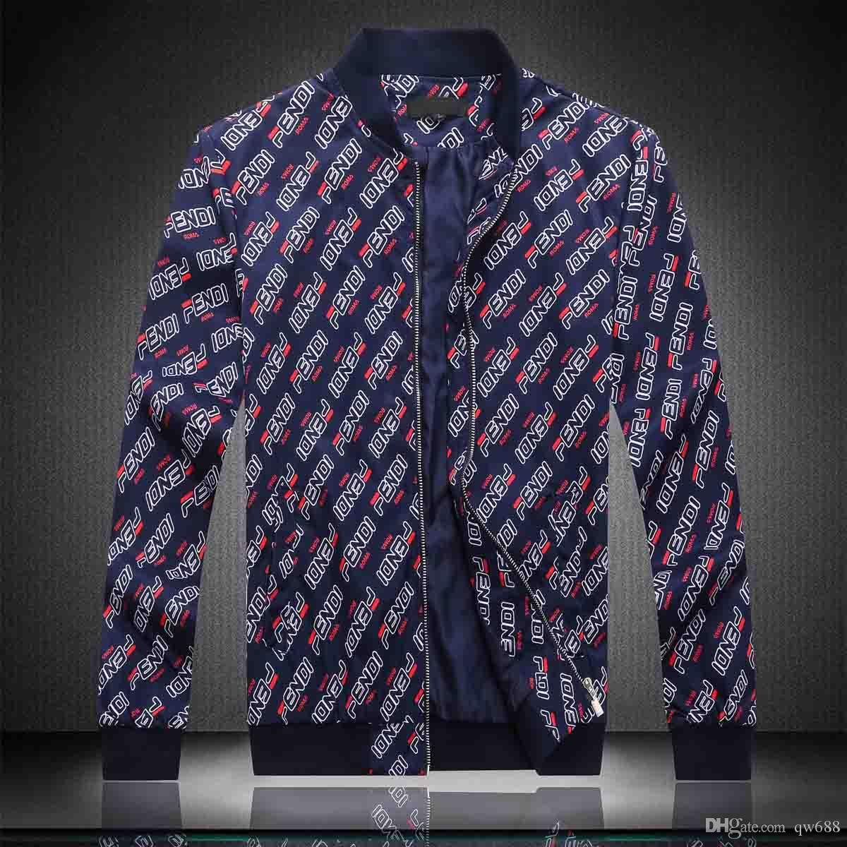 Мода куртка ветровка с длинным рукавом мужские куртки толстовка одежда молния с рисунком животных письмо плюс размер одежды M-3XL