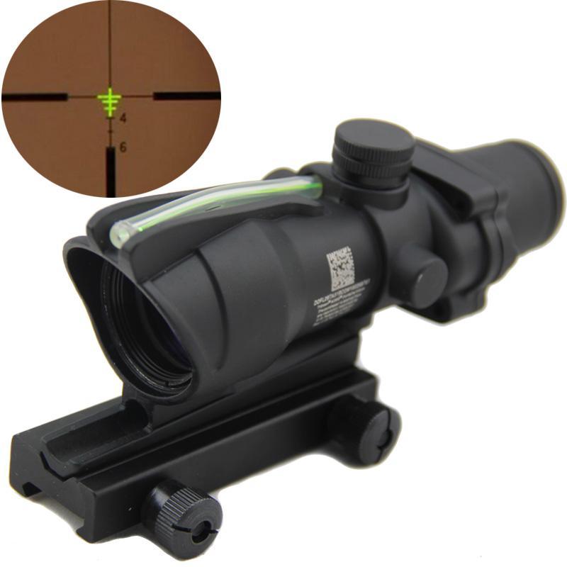 Acog 4x32光学範囲戦術的な緑の繊維ライフルスコープ本物の緑の繊維weaver戦闘視力