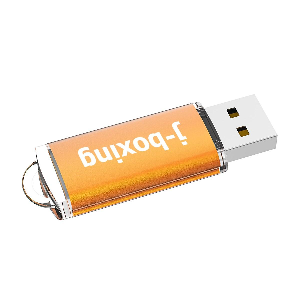 Turuncu Toplu 200PCS 256MB USB 2.0 Flash Sürücü Dikdörtgen Thumb Kalem Bilgisayar Dizüstü Tablet Macbook U Disk Flash Memory Stick Depolama Sürücüler