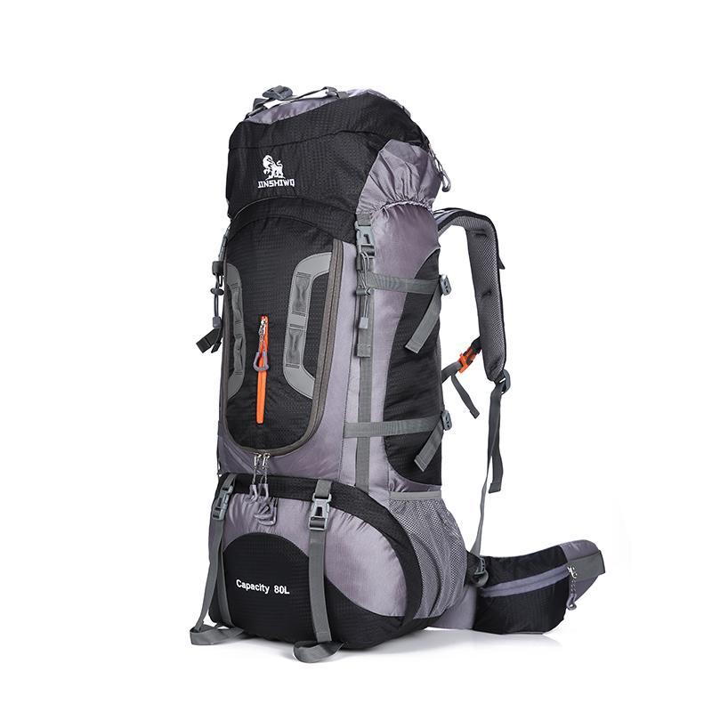 80L Büyük Kapasiteli Açık sırt çantası Kamp Seyahat Çantası Profesyonel Yürüyüş Sırt Çantası Sırt Çantaları spor çantası Tırmanma paketi 1.45 kg