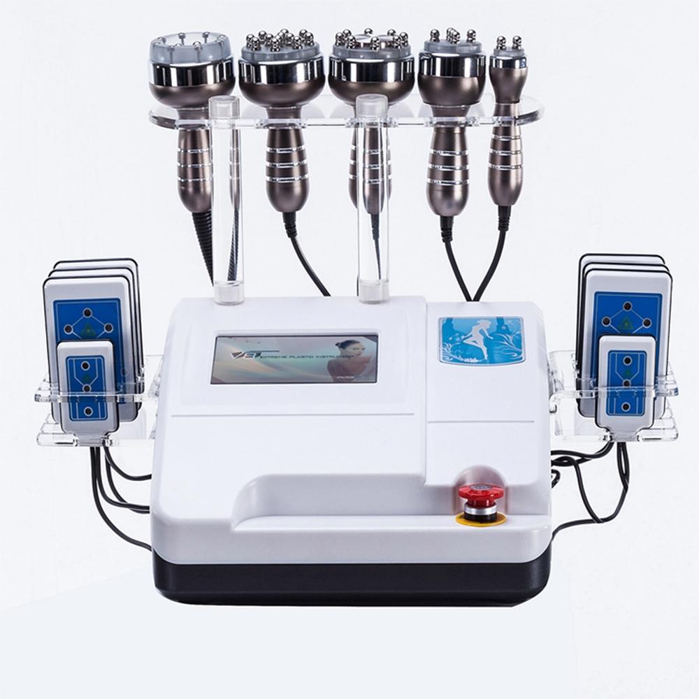 Profesyonel 6in1 40K ultrasonik kavitasyon çok kutuplu RF 8 balataları DŞLT lipo lazer vakum liposuction zayıflama makine cilt bakımı salonu spa