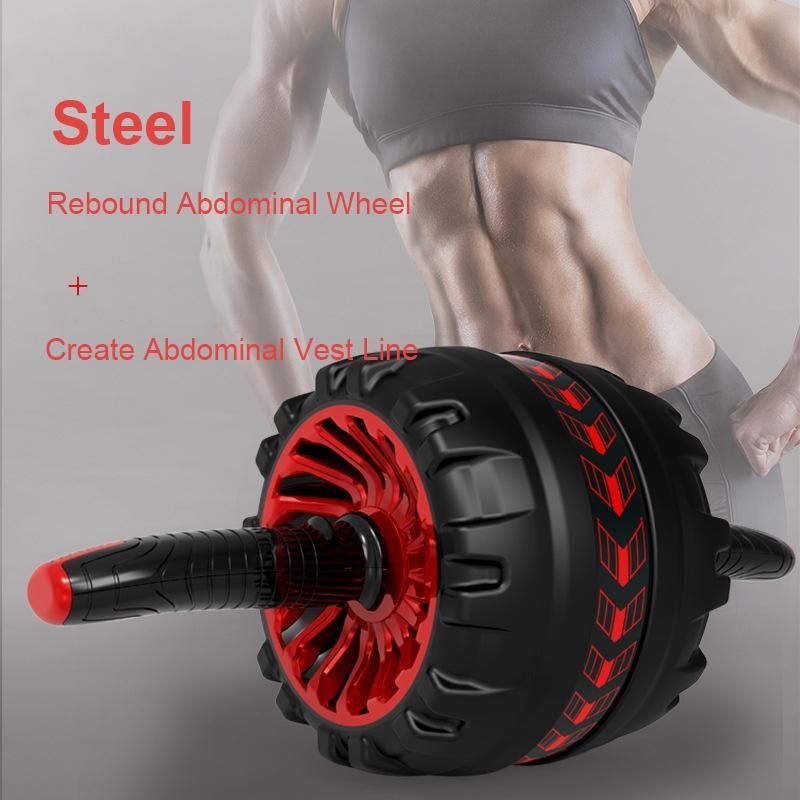 Ab Rouleau Non Bruit roue abdominale Ab Rouleau avec tapis pour Home Gym Muscle Arm taille Équipement d'exercice de remise en forme
