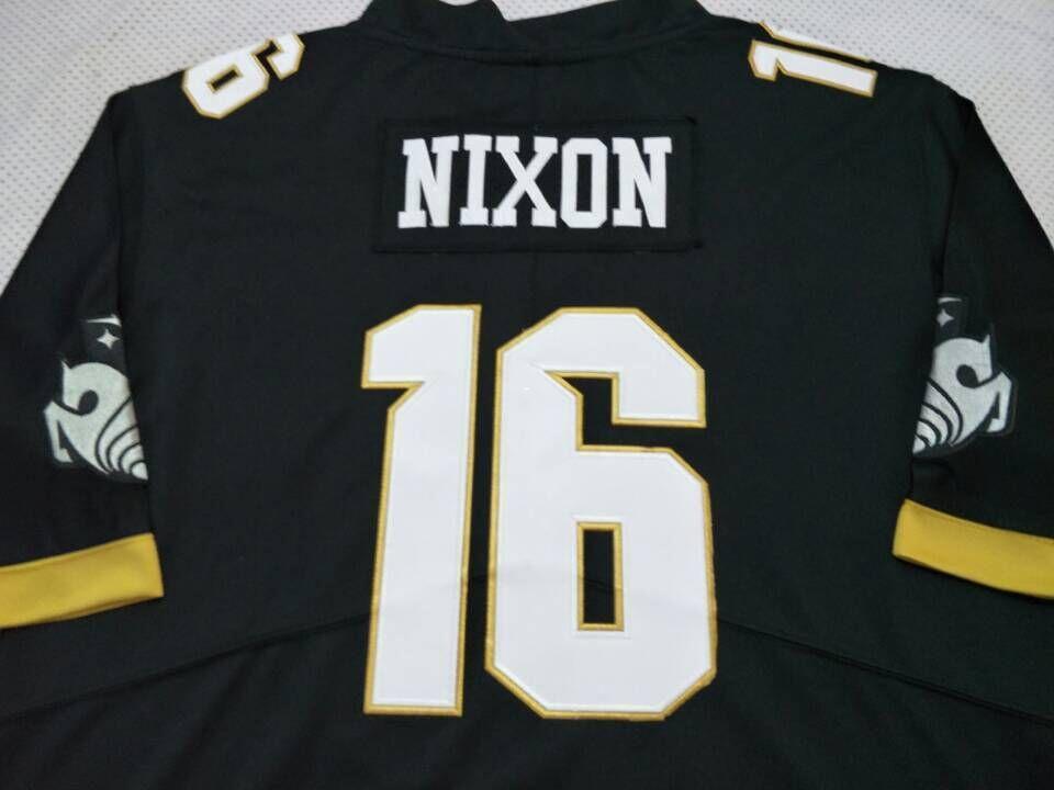 herhangi bir ad veya numara forması CUSOTM Erkekler UCF Knights Tre Nixon # 16 gerçek Tam nakış Koleji Jersey Boyut S-4XL veya özel