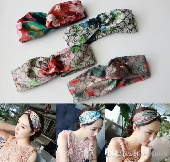 2020 Design-elastisches Stirnband für Frauen Art und Weise Hairband für Frauen-Mädchen-Retro Turban Headwraps Geschenke 3 Farbe G269