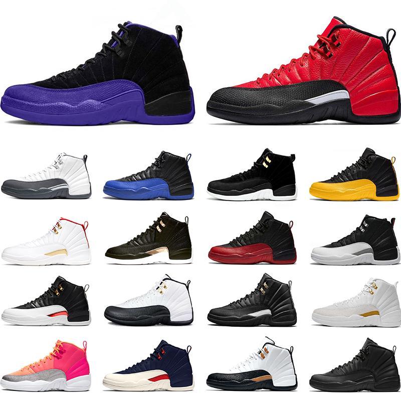 Nike Air Jordan 12 Retro 12 12s Баскетбольные кроссовки для мужчин 2019 Новая игра «Полночь черный грипп» The Master Gym Red CNY Такси Дизайнер XII Спортивные кроссовки