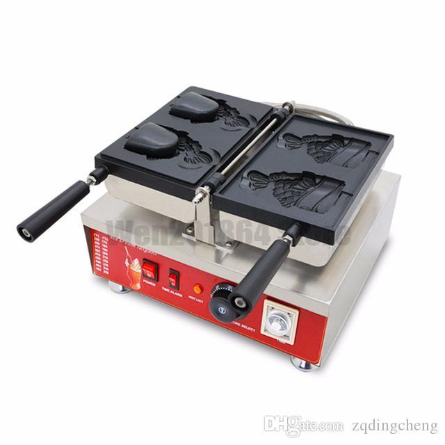 Бесплатная доставка ~ электрического 110v 220v-240v Японского стиля крем Taiyaki машина Рыба Конус вафли