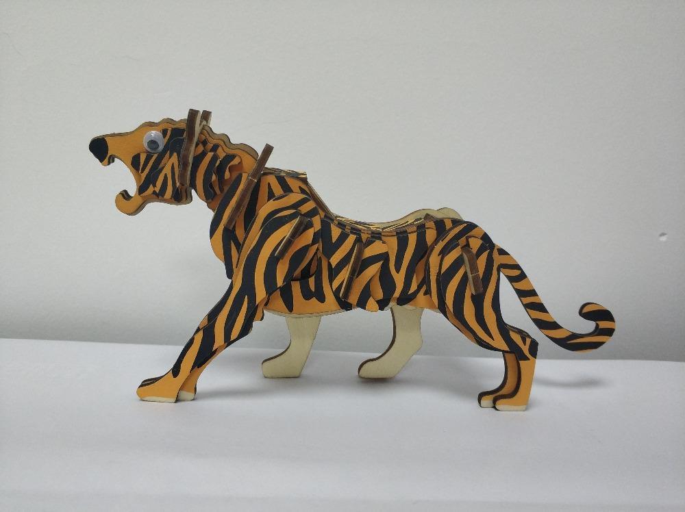 El precioso modelo de tigre de madera en 3D merece la pena.