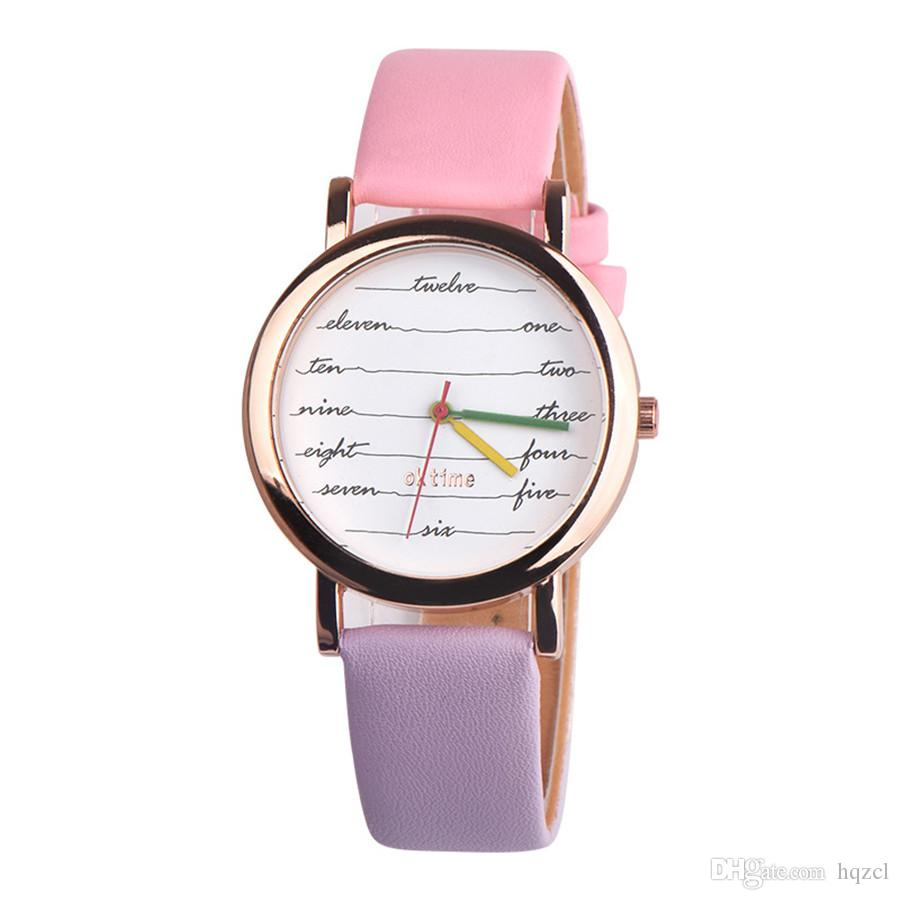 High Quality Fashion Women Ladies luxury Watch Simple Faux Leather Strap Watches Analog Quartz Wristwatches Clock Gift Reloj