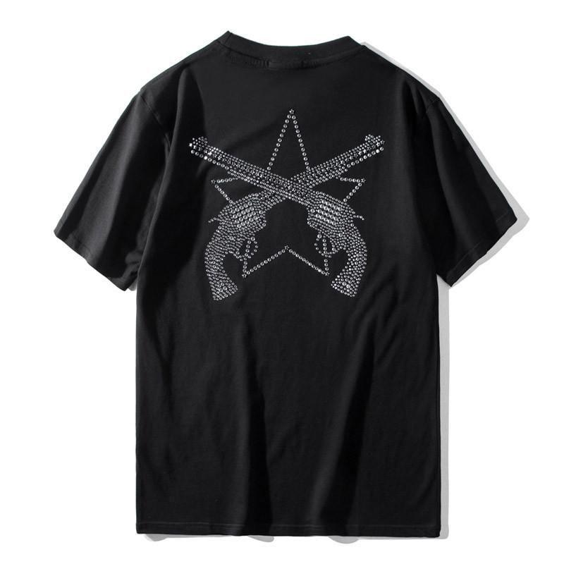 20ss LuxuxMens Designer-T-Shirts Sommer-beiläufige kurze Hülsen-Qualitäts-Strass Männer Frauen T-Shirts Größe S-2XL