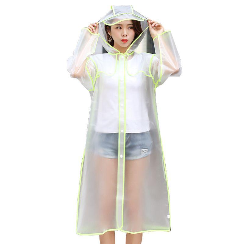 Transparent Raincoat Women Men Rain Poncho Rain Cape Unisex Plastic Eva Waterproof Parent-Child Raincoat Adult Long Rainwear