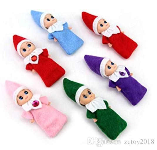 20pcs récents Noël Elf bébé Nuisettes Elfes Poupées Jouets Mini Elf Décoration de Noël Poupée d'enfants des jouets pour enfants Cadeaux