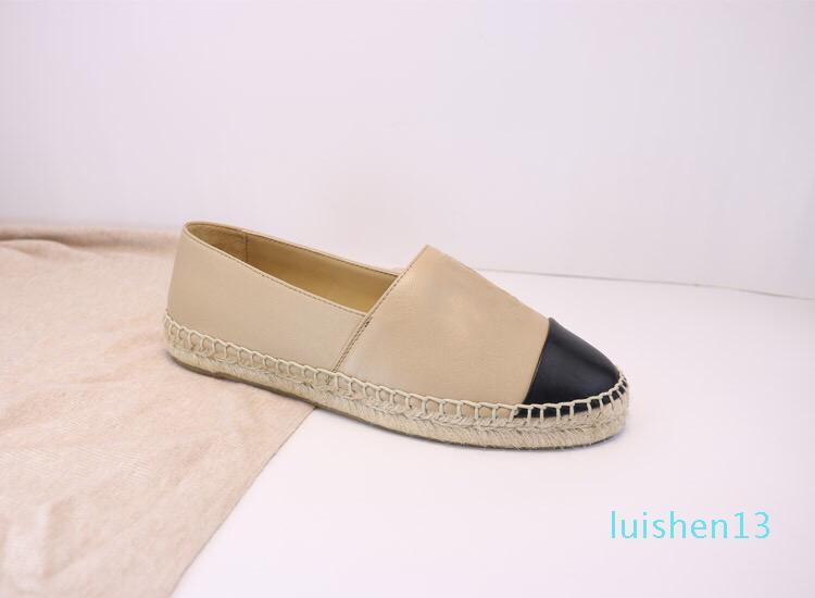 Zapatos Alpargatas Mujer Slip-On diseñador de los zapatos ocasionales de cuero de lujo de la plataforma de los hombres Alpargatas sandalias con la caja Tamaño 34--42 1 l13