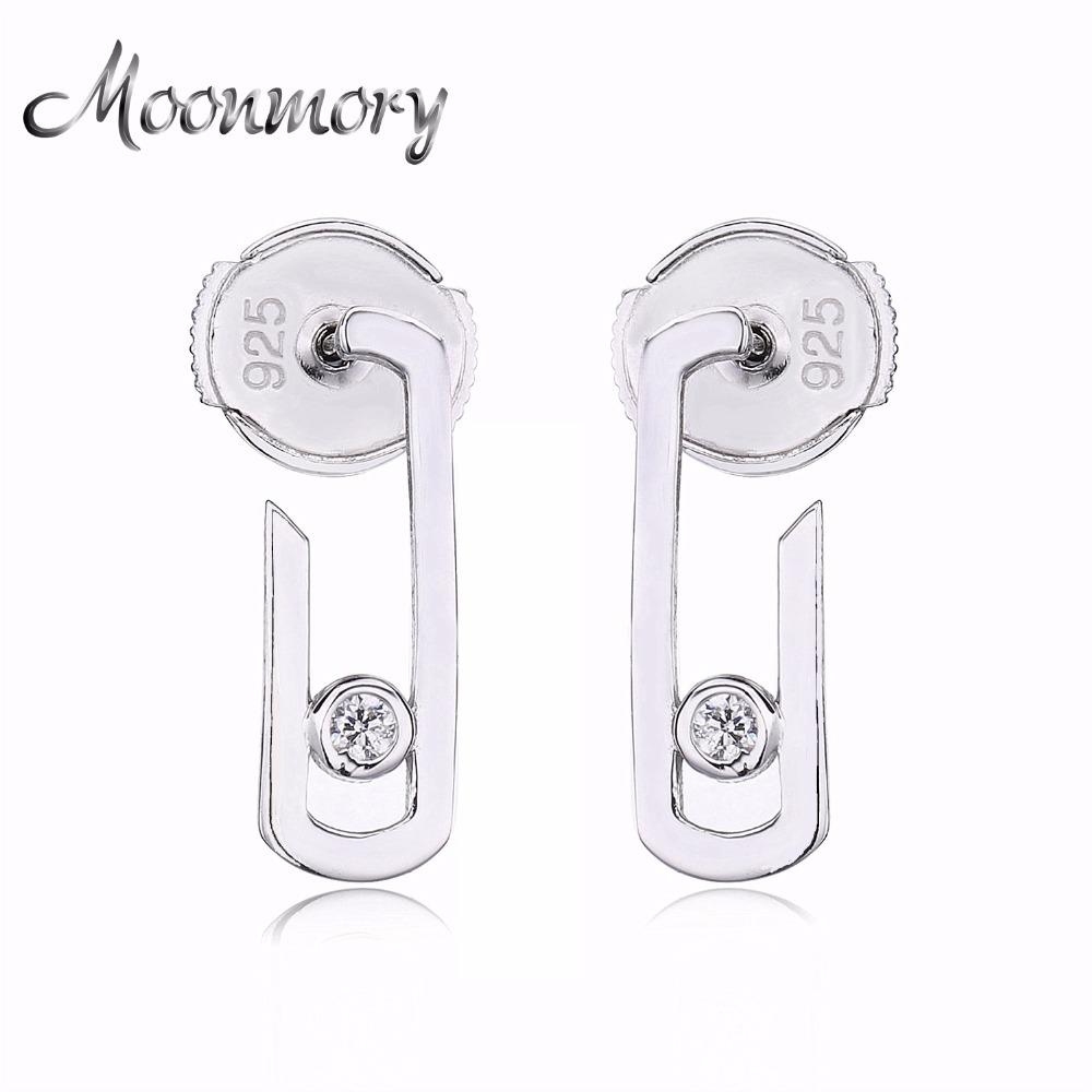 Moonmory France Fashion Jewelry 925 Sterling Silver Silver Earring For Women Silver Move Addiction Star Valentine's gift CX200624