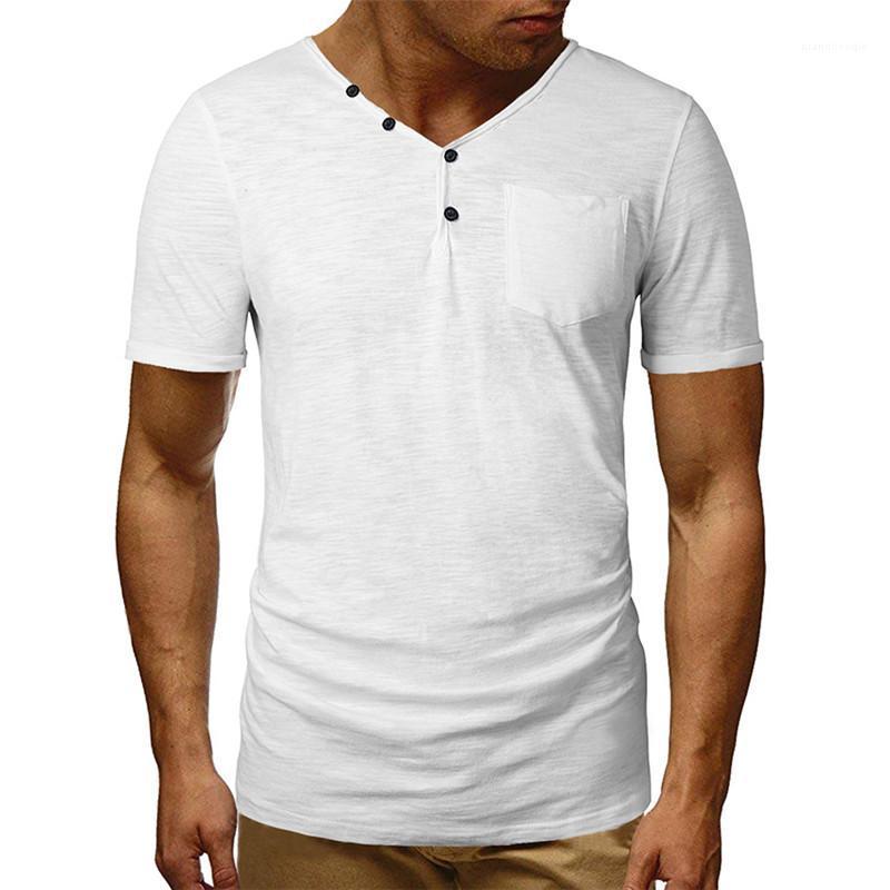 Casual Tees Jerséis Camisetas para hombre Ropa para hombre del diseñador delgado del verano camisetas de la moda de manga corta en color natural