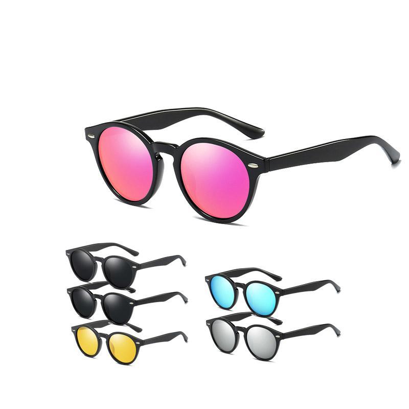 Sole per occhiali da sole Eyewear de Plastic Brand Men Travel Oculos Fashion Square Guida Guida di vetro polarizzato Sol WSFUR