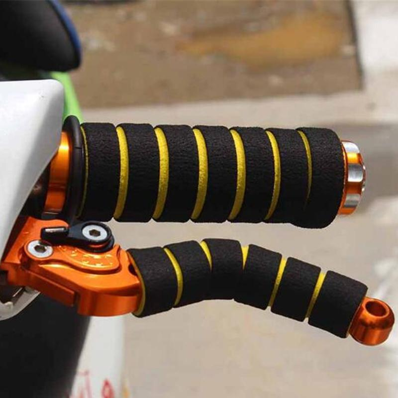 4Pcs Set Motorcycle Bicycle Bike Foam Sponge Nonslip Handlebar Hand Grips Cover
