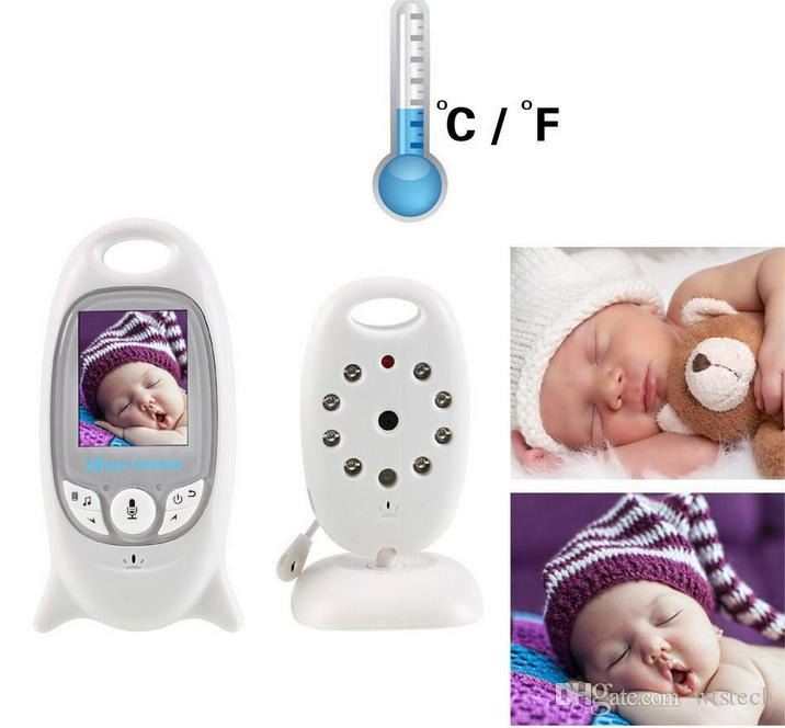 VB601 2.4Ghz video baby monitors wireless 2.0 Inch LCD screen 2 Way infrared temperature talk at night camera protection 8 lullabies