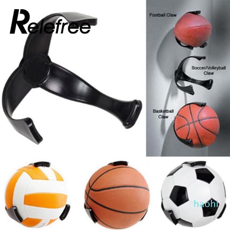 Оптово-1 шт Relefree Пластиковые Футбольный мяч коготь Настенный держатель Баскетбол Футбол хранения стойку Держатель Футбольный мяч держатель для хранения