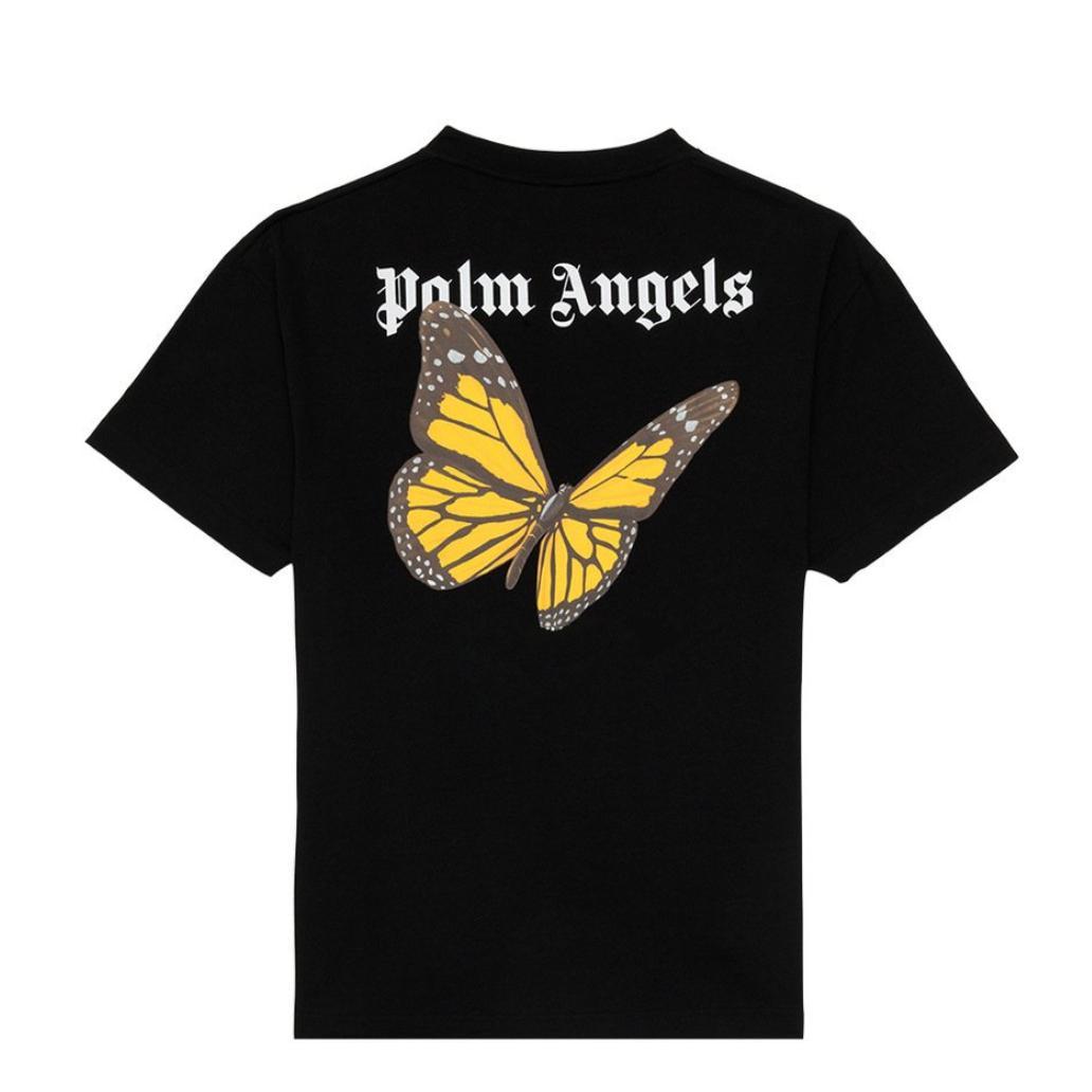 2020ANGELS bellezza marea PALM stampa della farfalla ANGELI PA sciolto sport casuali girocollo a manica corta T-shirt uomini e donne 92002-01