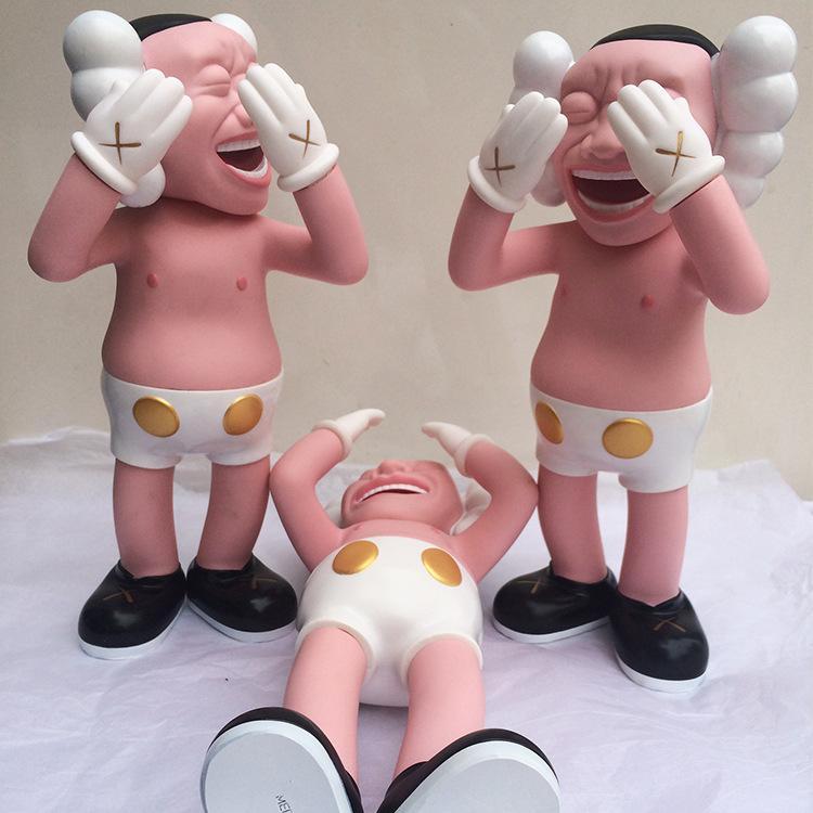 KAWS Spoof 12 pollici 30cm Trendy bambola Design e decorazione 2019 migliore per gli amici delle ragazze del PVC figura gomma lo stress ufficio mitigatore