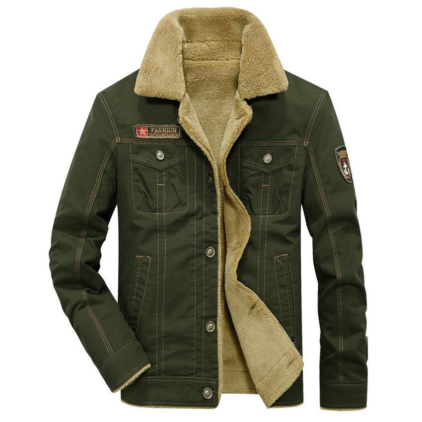 Automne et hiver nouveau plus de velours uniformes épais hommes REVERS coton veste veste vide