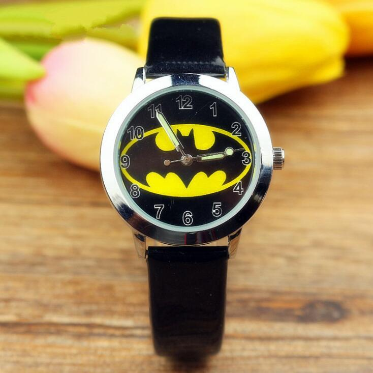 En iyi hediye İçin Yeni Batman Çocuk Saatler Çocuk Kuvars saatı Karikatür Jelly Çocuklar Saat erkek kız Aydınlık Öğrenci izle