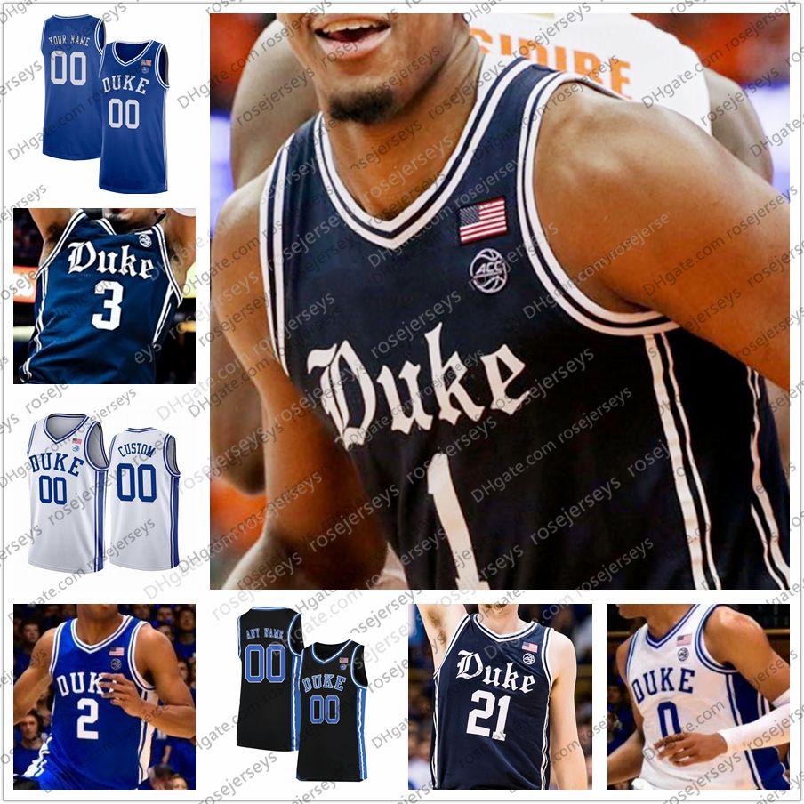 Пользовательские новый герцог синие дьяволы 2020 ретро темно-синий баскетбол Джерси размер 4XL Вернон Кэри Джонс-младший Тре Кассиус Стэнли Мэтью обижать мужчин молодежи ребенка