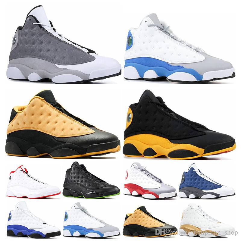 13 13s Mens Basketball Shoes Phantom Chicago GS Hyper Royal Black Cat Flints Bred Brown Olive Wheat DMP Ivory Grey men sports sneakers
