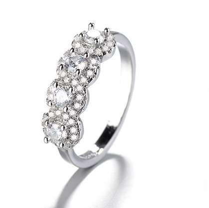 Hanımın zarif DÜĞÜN Taş Yüzükler Yeni Moda Mücevher söz halkaları Moda Aşk Jetonu Yüksek kaliteli Yeni Geliş