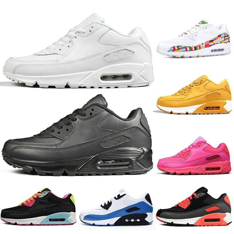 Top Brand 90 Обувь мужская Кроссовки Кроссовки женщин Run обуви Розовый Oreo Классический Тройной Белый Черный Беговая Прогулки Теннис Off 36-45
