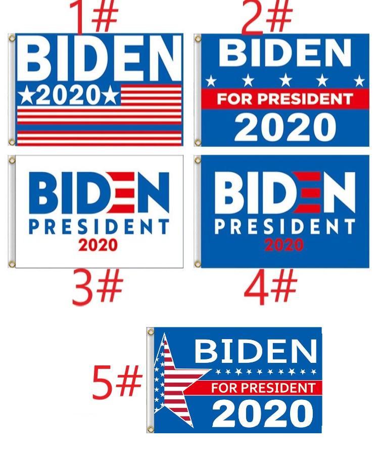 5 types 150 * 90cm Biden Drapeau Bernie Sanders Biden Andrew Yang bannière polyester Décor bannière pour 2020 Président USA