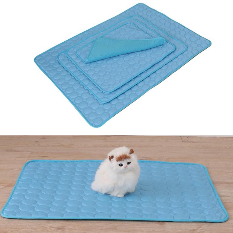Pet Dog Summer Cooling Mats Blanket Ice Cats Bed Mats For Dog Sofa Portable Tour Camping Yoga Sleeping Pet Accessories