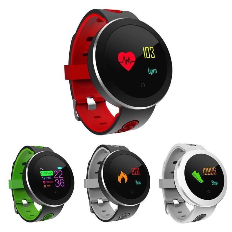 Q8 PRO intelligente orologio da polso impermeabile Sangue Prssure cardiofrequenzimetro da polso fitness Inseguitore della macchina fotografica di Bluetooth braccialetto per iPhone iOS Android