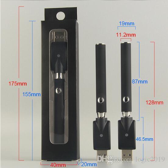 Preriscaldare VV Battery Charger Kit 350mAh preriscaldamento Vertex LO tensione variabile Vape Pen Batteria Per CE3 3X H105 Spesso olio Cartucce in ceramica
