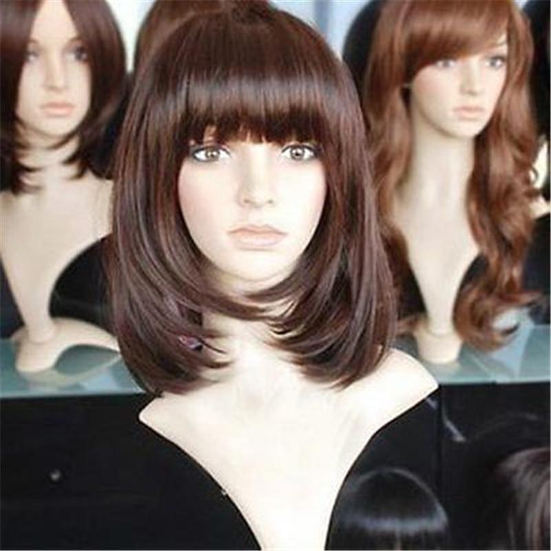 JIAFA174 super lange Haar der Frauen braune Gesundheit Perücke Perücken für Frauen