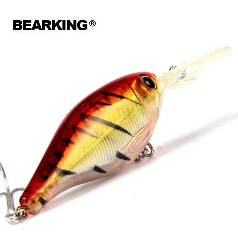 Varejo 2017 boas iscas de pesca minnow, qualidade sável profissional iscas duras 8cm / 14g, bearking MODELO QUENTE penceilbait crankbait T191017
