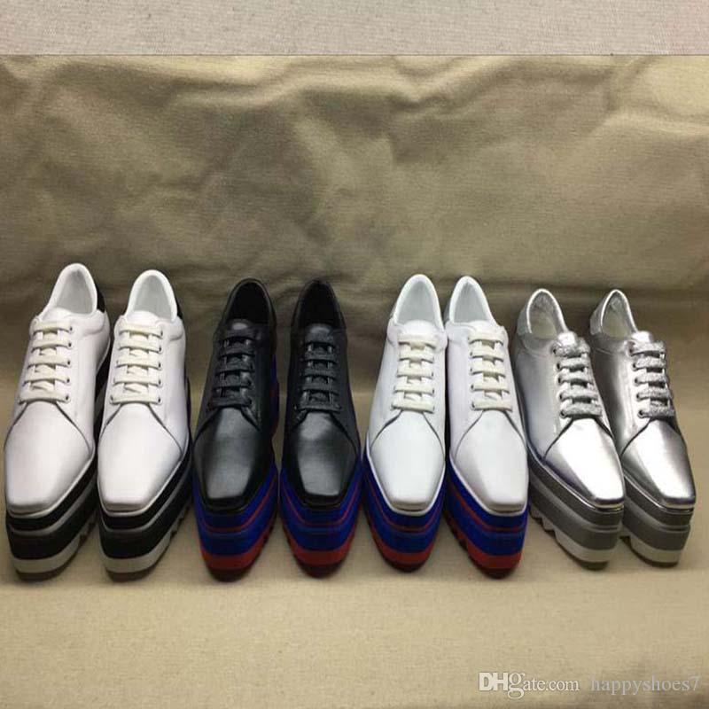 Stella mulheres sapatos de couro genuíno plataforma New Arrival espreitadela-Elyse Mulheres Plataforma Couro Calçados BB3