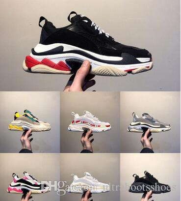 2019 Luxo Platform Ace 17FW homens mulheres Triplo s Gym Red Blue Black Triplo Baixa Old Dad Vintage calçados casuais Triple-S Sneakers