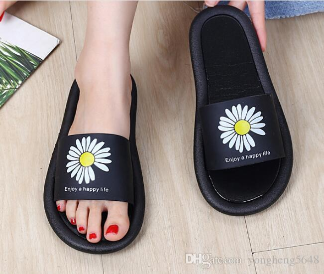 Summer Slippers Women Cute flower Flat Flip Flops Ladies Soft Slides Shoes Female Print Floral Beach Casual Sandals